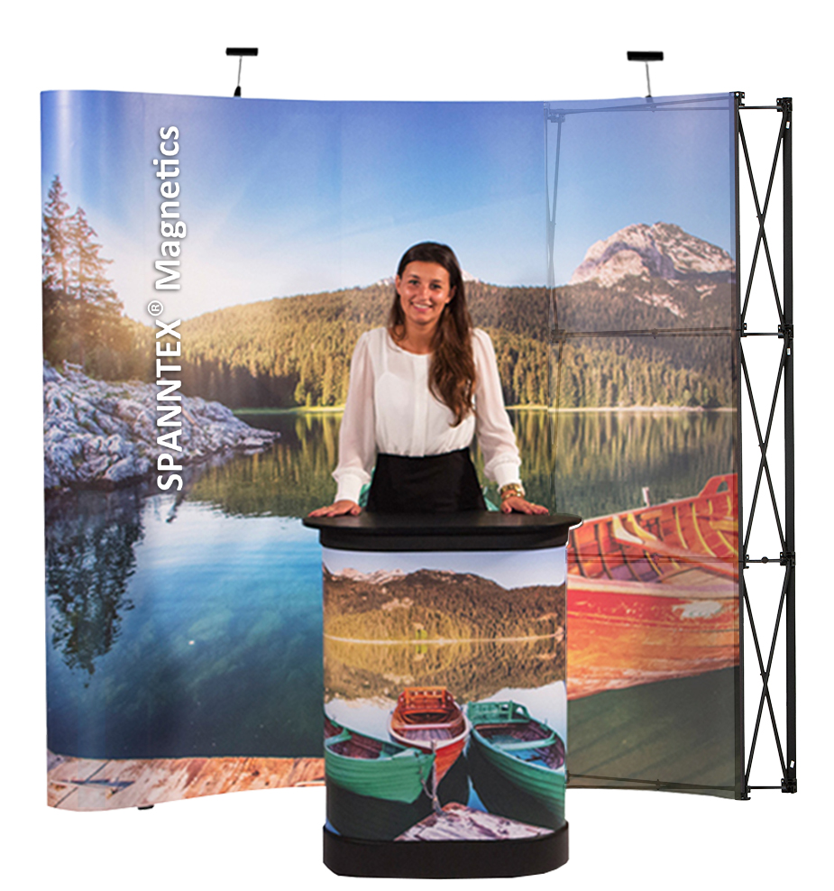 pop up magnetics, media wall, messewand, werbewand, faltwand, mobil